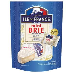 イル ド フランス ミニブリー 個包装 75g(25g×3P) フランス産 白カビ チーズ 【包装不可】【要クール便】【ワイン(750ml)11本まで同梱可】