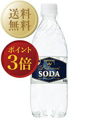 【あす楽】【送料無料】【包装不可】 サントリーソーダ 強炭酸 ペットボトル 2ケース 48本入 490ml ペットボトル 炭酸水 他商品と同梱不可