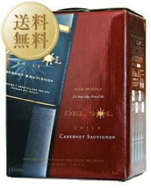 【送料無料】【包装不可】 デル ソル カベルネソーヴィニヨン(赤) BIB(バックインボックス) 1ケース 3000ml×4 BOXワイン ボックスワイン 赤ワイン