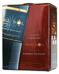 デル ソル カベルネソーヴィニヨン(赤) BIB(バックインボックス) 3000ml BOXワイン ボックスワイン (8個まで1梱包可能) 赤ワイン 西濃運輸 出荷不可 あす楽