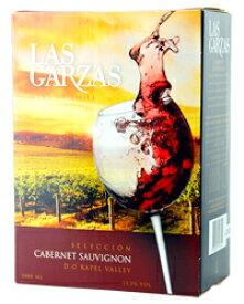 【包装不可】 ラス ガルサス(ガルザス) カベルネソーヴィニヨン BIB(バックインボックス) 3000ml 赤ワイン 箱ワイン
