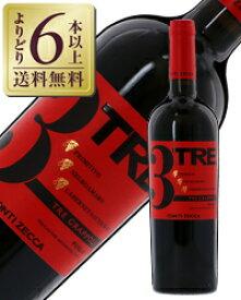 【よりどり6本以上送料無料】 コンティ ゼッカ トレ グラッポリ ロッソ 2017 750ml 赤ワイン イタリア