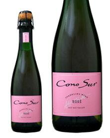 【同一商品12本購入で送料無料】 コノスル スパークリング ブリュット ロゼ ハーフ 375ml チリ スパークリングワイン