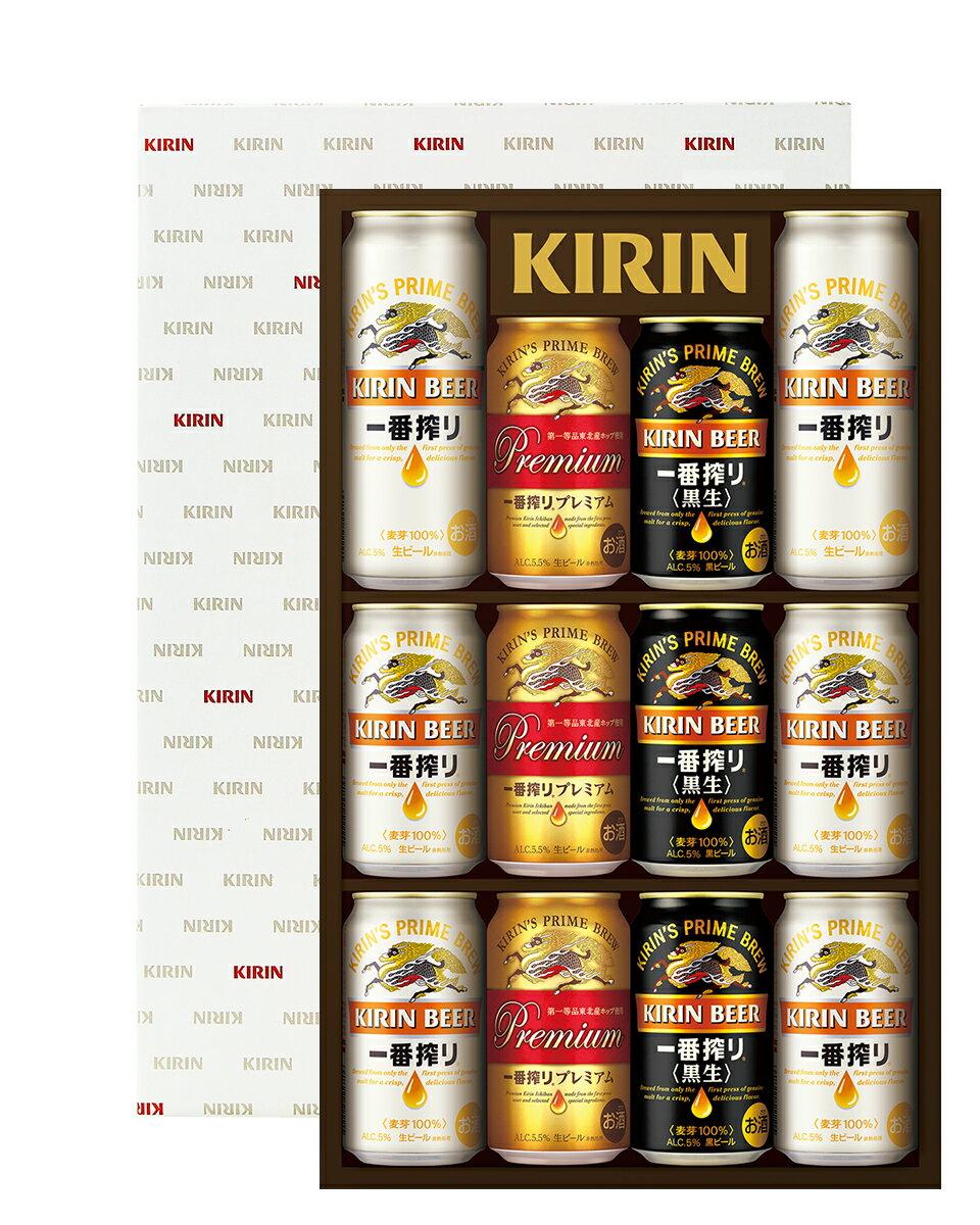 お中元 ビールギフト キリン 一番搾り 3種飲みくらべセット プレミアム入り K-IPC3 しっかりフル包装+短冊のし