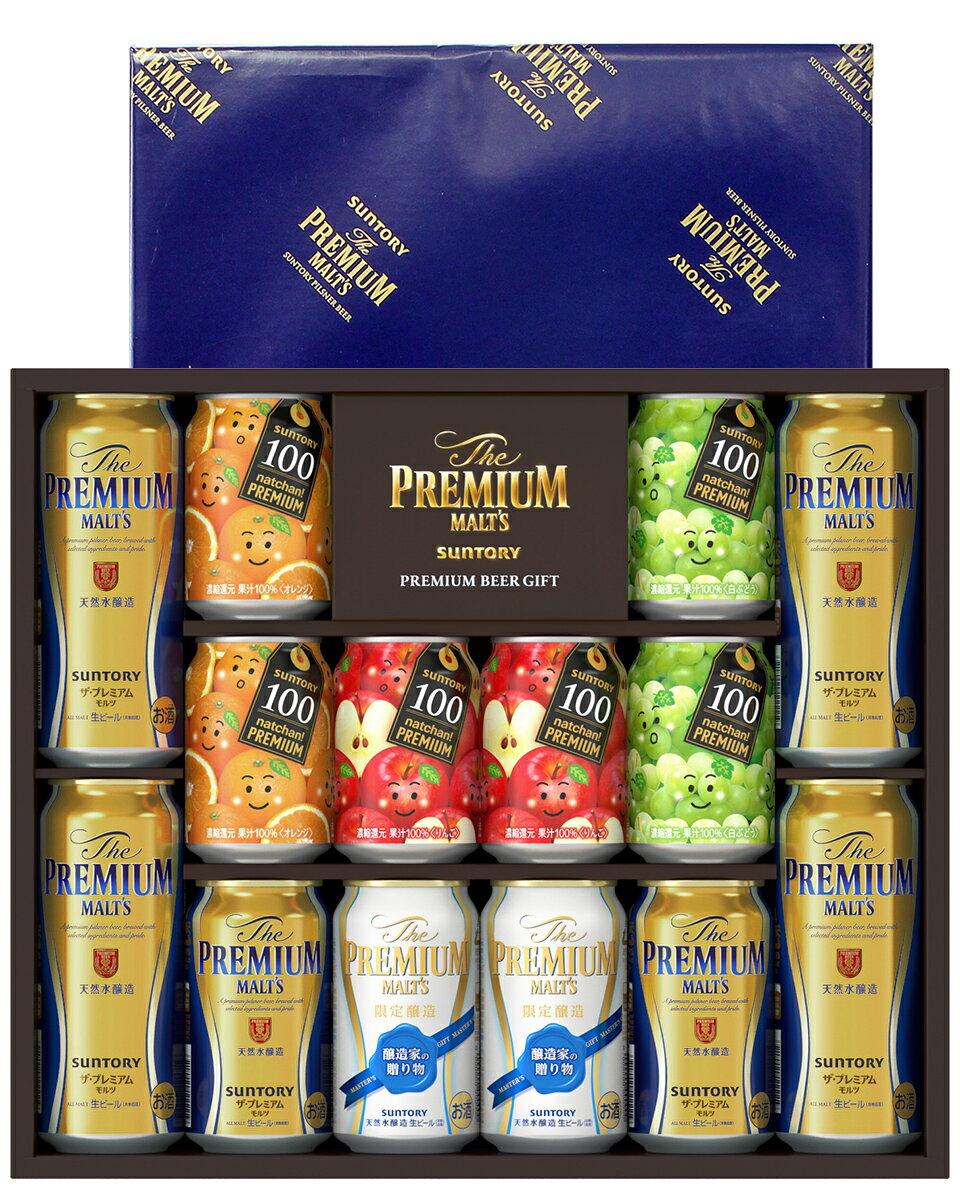 お中元 ビールギフト サントリー ザ プレミアム モルツ プレミアムファミリーセット プレモル PF30N しっかりフル包装+短冊のし