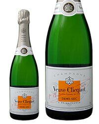 ヴーヴ クリコ ポンサルダン(ヴーヴ・クリコ)(ヴーヴクリコ)(ブーブクリコ) ホワイトラベル ドゥミセック 750ml 正規 シャンパン シャンパーニュ Veuve フランス