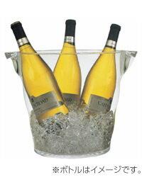 【包装不可】 アクリルウェイブ ワインクーラー(L)品番:2925 winegoods