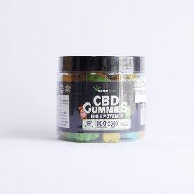 CBD グミ HempBaby ヘンプベイビー 100粒入り 2500mg CBN500mg 1粒 CBD25mg CBN5mg ヘンプベイビー  oil 高濃度 睡眠 リラックス ヘンプベビー