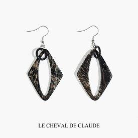 【OUTLET】 LE CHEVAL DE CLAUDE クロード元町 BIJOUX NATURE バッファローピアス
