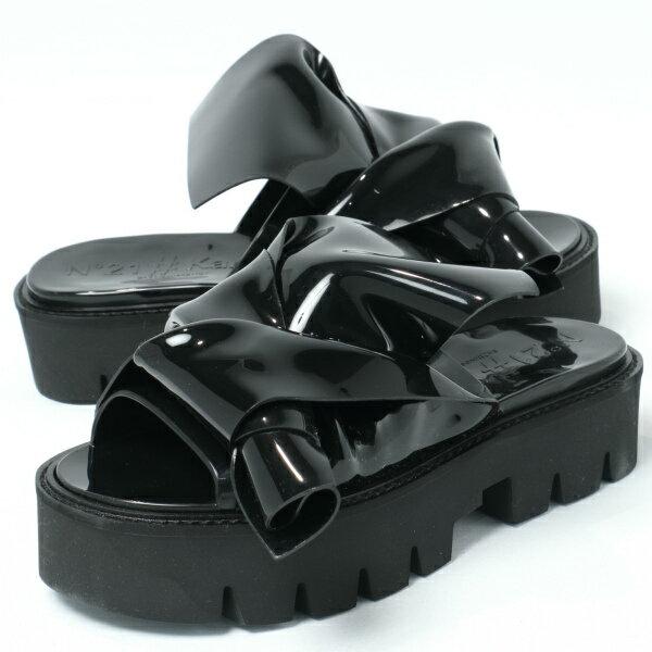 カルテルシューズ / Kartell shoes/ 064 N°21 × Kartell ヌメロ ヴェントゥーノ KNOT ノット サーモプラスチック 厚底 サンダル ヒール4.0 / ブラック【送料無料】 ka064-black