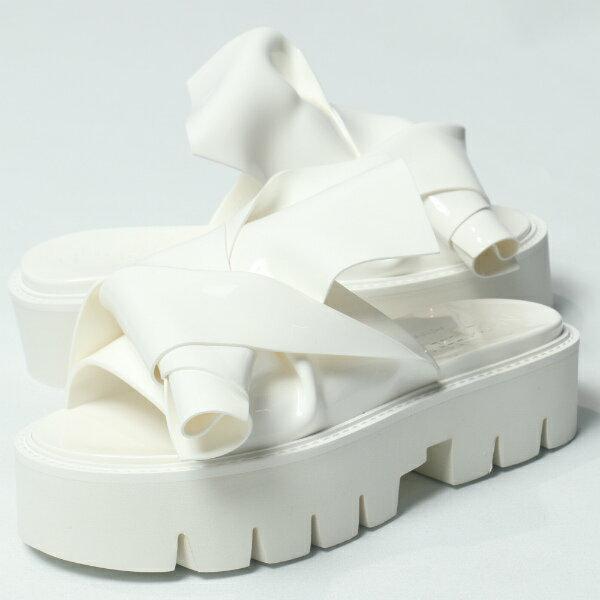 カルテルシューズ / Kartell shoes/ 064 N°21 × Kartell ヌメロ ヴェントゥーノ KNOT ノット サーモプラスチック 厚底 サンダル ヒール4.0 / ホワイト【送料無料】 ka064-white