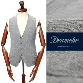 Drumohr / ドルモア / D1R108B / カシミアブレンド / スーパージーロンラムズウール / ハイゲージ / シングル / ニット / ジレ / グレー d1r108b-gy 100