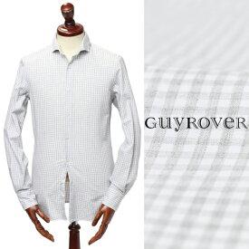 ギ ローバー / GUY ROVER / ギンガムチェック / フランネル / コットン / シャツ / ライトグレー w2760la-lgyc 100