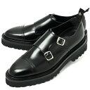 《サイズ10あり》 WH / ダブルエイチ / 【Zソール】 / ボカルーカーフ / ダブルモンクストラップ / シューズ / 革靴 /…