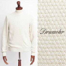 Drumohr / ドルモア / コットン / クルーネック ニット / ホワイト d5cb464-w 100【返品不可】