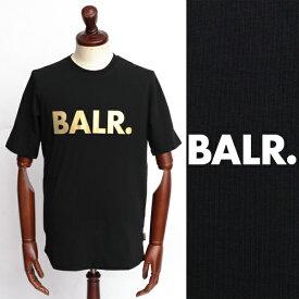 ボーラー / BALR / BRAND SHIRT / ロゴ / Tシャツ / ブラック × ゴールド 126050259-blgd 100