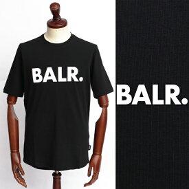 ボーラー / BALR / BRAND SHIRT / ロゴ / Tシャツ / ブラック × ホワイト 126050259-blw 100