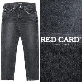 RED CARD / レッドカード / Rhythm kita /ストレッチ /テーパード デニムパンツ / ブラック Black 88861kib-bl 100