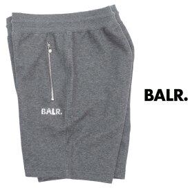 ボーラー BALR Q-SERIES CLASSIC SWEAT SHORTS プレートロゴ パンツ ダークグレー × シルバー b10010-dgy 100