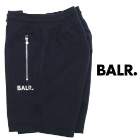ボーラー BALR Q-SERIES CLASSIC SWEAT SHORTS プレートロゴ パンツ ネイビー b10010-na 100