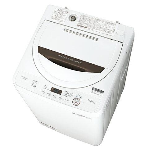 ES-GE5B-T シャープ SHARP 全自動洗濯機 ステンレス槽 5.5kg ブラウン系
