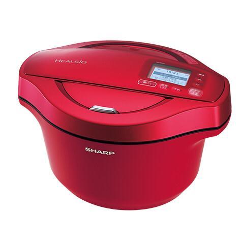 KN-HW24C-R シャープ  ヘルシオ ホットクック 無水調理 水なし自動調理鍋!