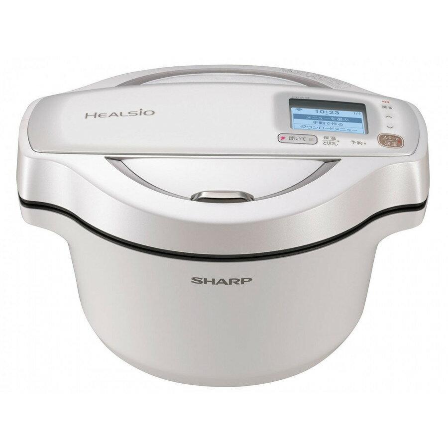 KN-HW16D-W シャープ  ヘルシオ ホットクック 無水調理 水なし自動調理鍋 ホワイト系