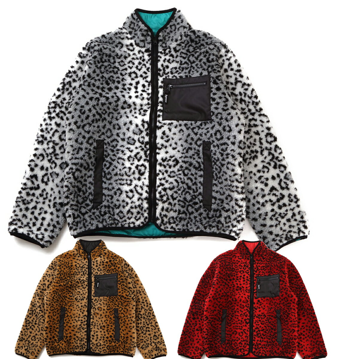 SUPREME シュプリーム Leopard Fleece Reversible Jacket アメリカ正規直営店買付分【あす楽対応_関東】