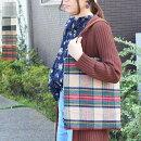 トートバッグA4タータンチェック鞄ウール大きめレディースカジュアルおしゃれシンプルPUクリスマスギフト秋冬