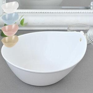 洗面器 湯桶 湯おけ リッチェル アライス フック おしゃれ 日本製 防カビ バスボウル オシャレ 通気性 浴室 お風呂 新生活 バスグッズ 抗菌加工 風呂おけ ホワイト ピンク きれい