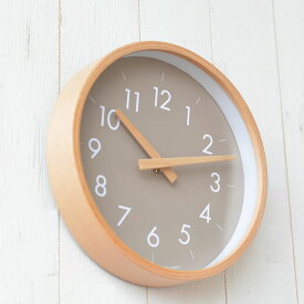 掛け時計 creer クレエ CAMPAS キャンパスウォールクロックS 壁掛け 時計 インテリア 音がしない 木製 木目 北欧 ナチュラル シンプル 寝室 リビング 丸形 クロック プレゼント ウッド