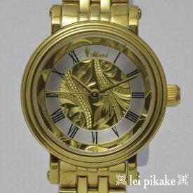 ハワイアンジュエリー レディース 時計 Maxi Watch GD インサイドScroll レディース