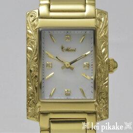 ハワイアンジュエリー レディース 時計 Maxi VicenteコラボWatch/GD プレゼント ラッピング