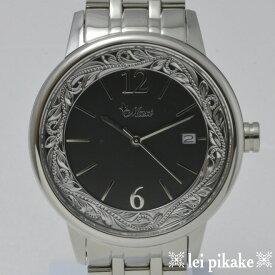 ハワイアンジュエリー メンズ 時計 Maxi ラウンド Watch /SV&BL