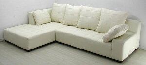 ソファソファー本革3人掛けl字カウチソファローソファイタリアブランド革ベーシッククッション付きホワイト白12色対応設置対応可(別途)931bp-2p-couch