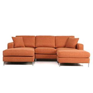 ソファソファーカウチソファ3人掛けローソファファブリック布地カジュアルクッション付きオットマン付きホワイト白11色対応設置対応可(別途)938cc-2p-couch-ot