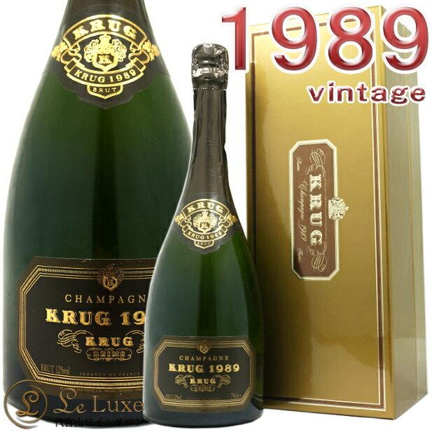 クリュッグ ヴィンテージ 1989箱入り シャンパン 泡 白 750mlKrug Vintage 1989 BOX