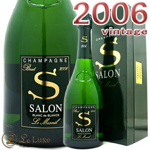 2006 サロンブラン ド ブラン ル メニル ブリュット 箱入り ギフト ボックス キュヴェS シャンパン 辛口 白 750ml Champagne Salon Blanc de Blancs Le Mesnil Brut Gift Box