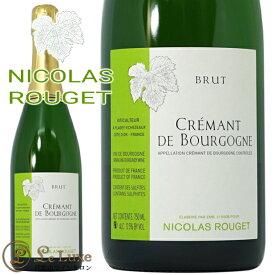 クレマン ド ブルゴーニュ ブリュット NV 正規品ニコラ ルジェ スパークリング 白 辛口 750mlNicolas Rouget Cremant de Bourgogne Brut NV