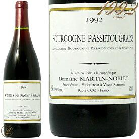 1992 ベルナール マルタン ノブレ ブルゴーニュ パストゥグラン 蔵出し 赤ワイン 辛口 750ml Domaine Bernard Martin Noblet Bourgogne Passetoutgrain