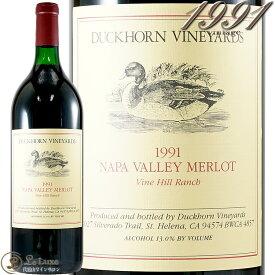 1991 メルロ ヴァインヒル ランチ ナパ ヴァレー ダックホーン ヴィンヤーズ マグナム 正規品 赤ワイン 辛口 フルボディ 1500ml Duckhorn Merlot Vine Hill Runch Napa Valey Magnum
