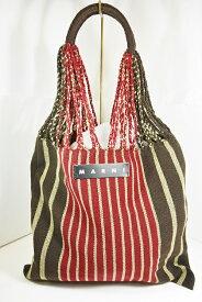 【売り切れました】MARNI(マルニ) フラワーカフェ ハンモックバッグ レッド レディース バッグ ストライプ バッグ フラワーマーケット