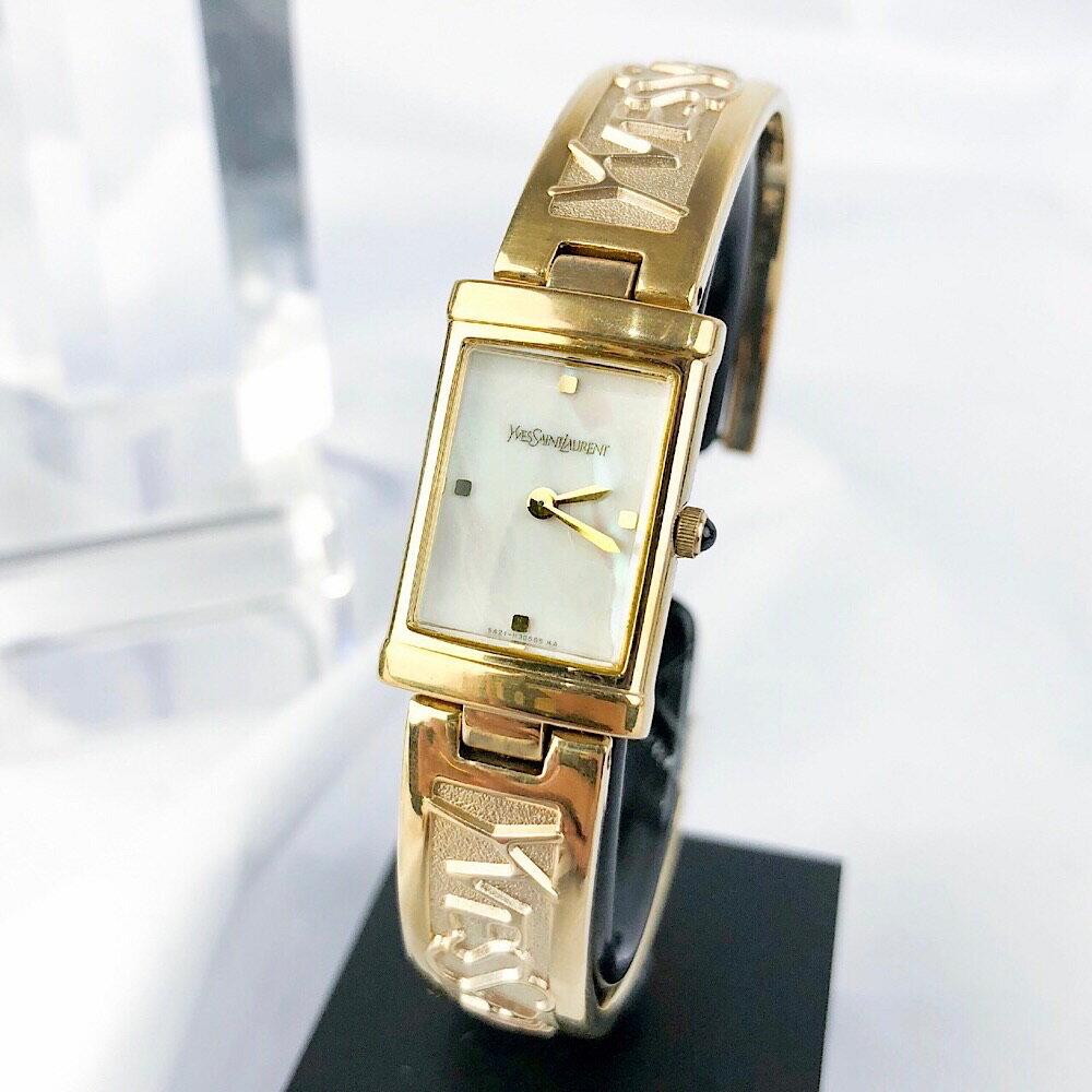 【OH済】サンローラン YSL ドレスウォッチ ゴールド レディース 腕時計 時計【中古】【送料無料】