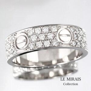 【仕上済】CARTIER カルティエ ラブリング 20号 WG 60 ダイヤ ダイヤモンド 指輪 リング