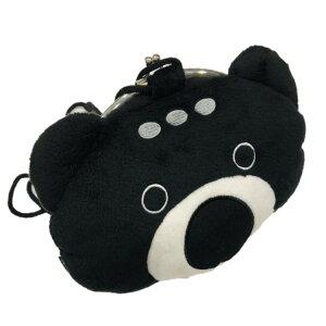 がま口ポーチ/PSYCHO BEAR【ブラック】