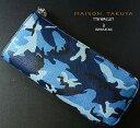 MAISON TAKUYA(メゾンタクヤ)Lジップロングウォレット(長財布)カモフラージュブルー×ブルー(迷彩)(ゴートレザー)TT6 Wallet/T…