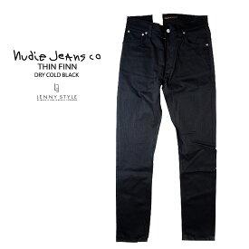 ヌーディージーンズ(nudie jeans)THIN FINN(シンフィン)DRY COLD BLACK【送料無料】