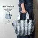 VeeCollective(ヴィーコレクティブ)トートバッグ・Sサイズ-千鳥柄プリント(vee tote small)【送料無料】