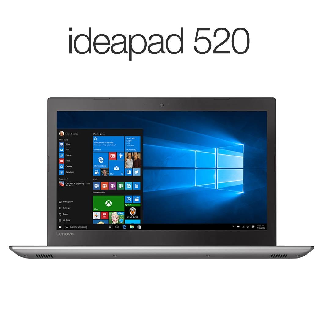 直販 ノートパソコン:Lenovo ideapad 520 Corei5搭載(15.6型 FHD/8GBメモリー/1TB HDD/Windows10/Officeなし/アイアングレー)【送料無料】