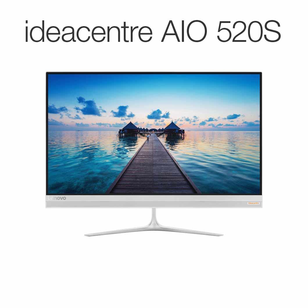 直販 デスクトップパソコン:Lenovo ideacentre AIO 520S Corei5搭載(8GBメモリ/1TB HDD/23型 FHD液晶一体型/Officeなし/シルバー)【送料無料】
